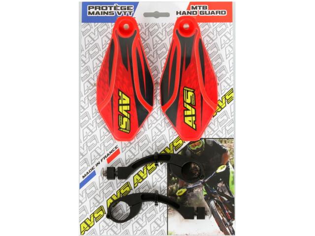 AVS Racing Kit Proteccor Mano con Diseño, red/black